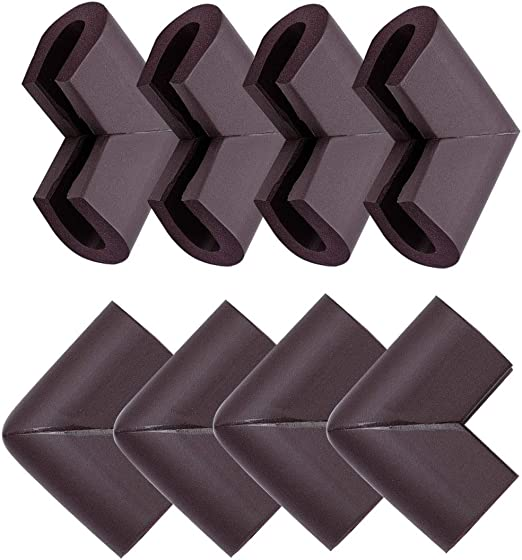 uxcell/® Soft Corner Cushions Guard Edge Foam Furniture Table Desk Protective Cover Bumper Pad Black