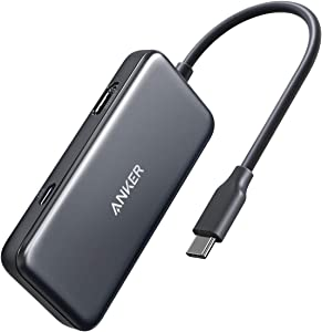 Anker USB C Hub, 3-in-1 Type C Hub, 4K USB C to HDMI Adapter, USB 3.0, with 60W Power Delivery Charging Port for MacBook Pro 2016/2017/2018, ChromeBook, XPS, and More (Space Grey)