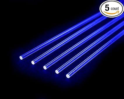 """Nanoptics 0.019/"""" Ultra Super Flex Replacement Bowsight Fiber 12/"""" 5 pcs Red"""