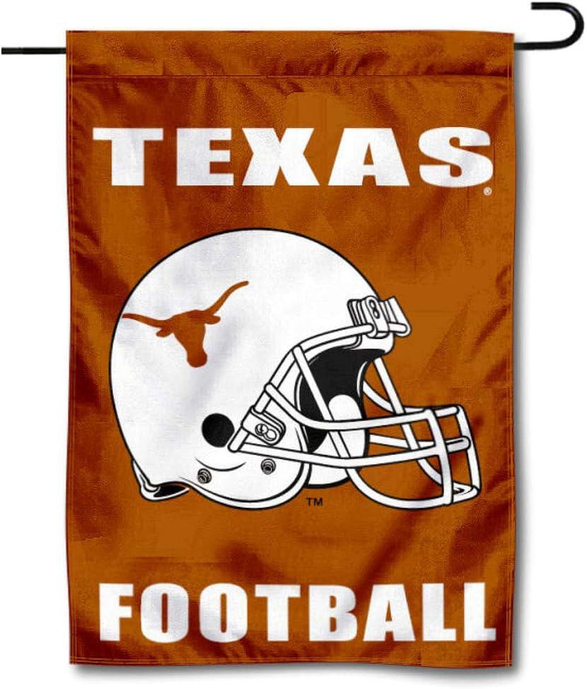 UT Longhorns Football Helmet Garden Flag and Yard Banner