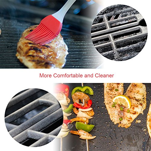 GDEALER BBQ Grill Mat 16''x13'' Barbecue Grill Mats Grilling Mat Set of 4 Reusable Heat Resistant Heavy Duty Non-stick Barbecue Sheets for Baking on Gas, Charcoal and Electric Grills by GDEALER (Image #4)