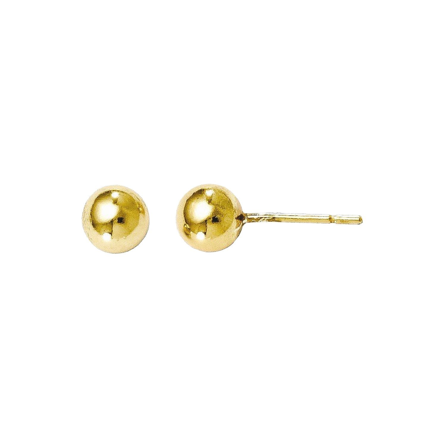 Leslies Sterling Silver Gold-tone 18k Flash Plated Ball Post Earrings
