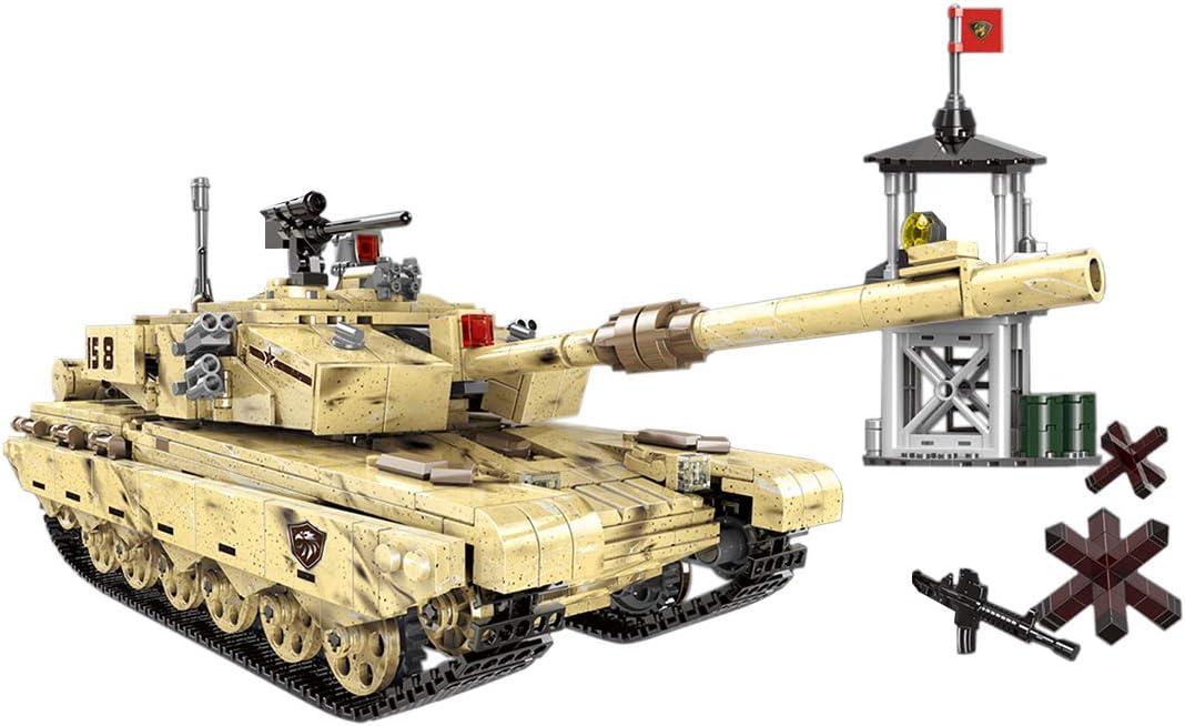 MAJOZ 1340 Piezas Tanque y Minifiguras,Militares Soldado Armas, Bloques de Construcción para Niños y Adulto