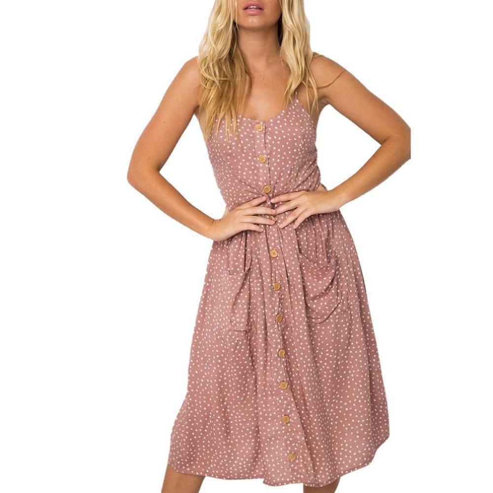 Vestidos Mujer, ❤Venmo Vestidos de Fiesta Mujer, Vestidos Bohemio de Punto de Verano para Mujer, Vestidos Largos con Bolsillo Mujer, Camisetas Mujer, ...