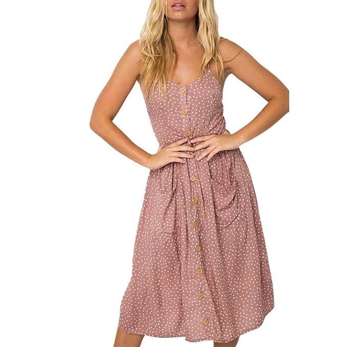 Vestidos Mujer,❤Venmo Vestidos de Fiesta Mujer,Vestidos Bohemio de Punto de Verano