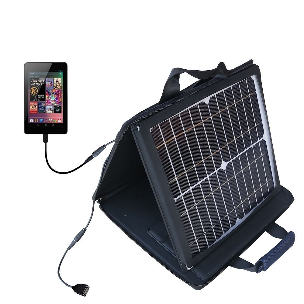Gomadic SunVolt High Output Portable Solar Power Station designed for the Amazon Kindle Fire / Fire HD - Can charge multiple devices with outlet speeds