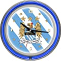 Premier League Manchester City Chrome Double Rung Neon Clock