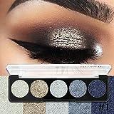 Pressed Glitter Eye Shadow Rainbow Cosmetic Make Up Pressed Glitters Diamond Eyeshadows