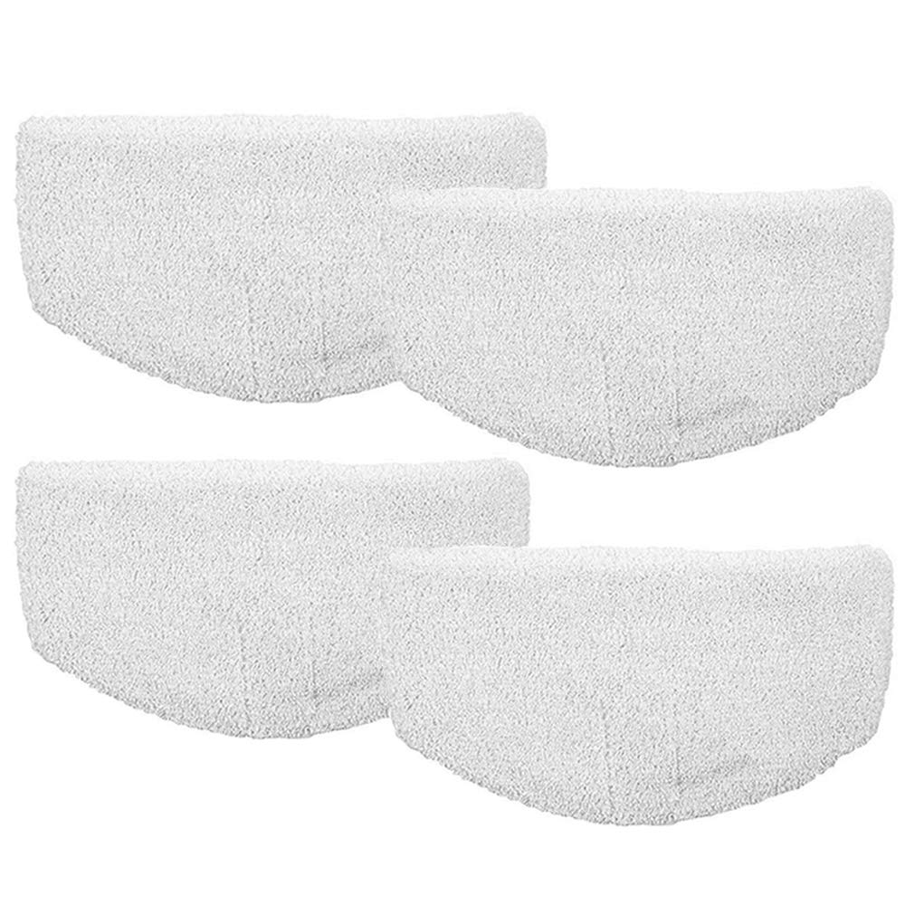 Turbokey 4Pcs Bissell Mop Replacement Pads Microfiber Powerfresh Duster Steam Mop Pads for Bissell Powerfresh 1940 Series, 1544A, 2075A, 1440, 1940W, 19404, 1806, 1940A, 5938, 19408, 1940Q (Zigzags)