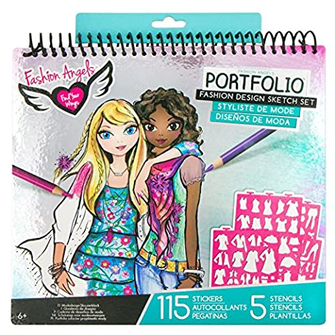 Fashion Angels Fashion Design Portfolio,styles may vary - Fashion Design Set