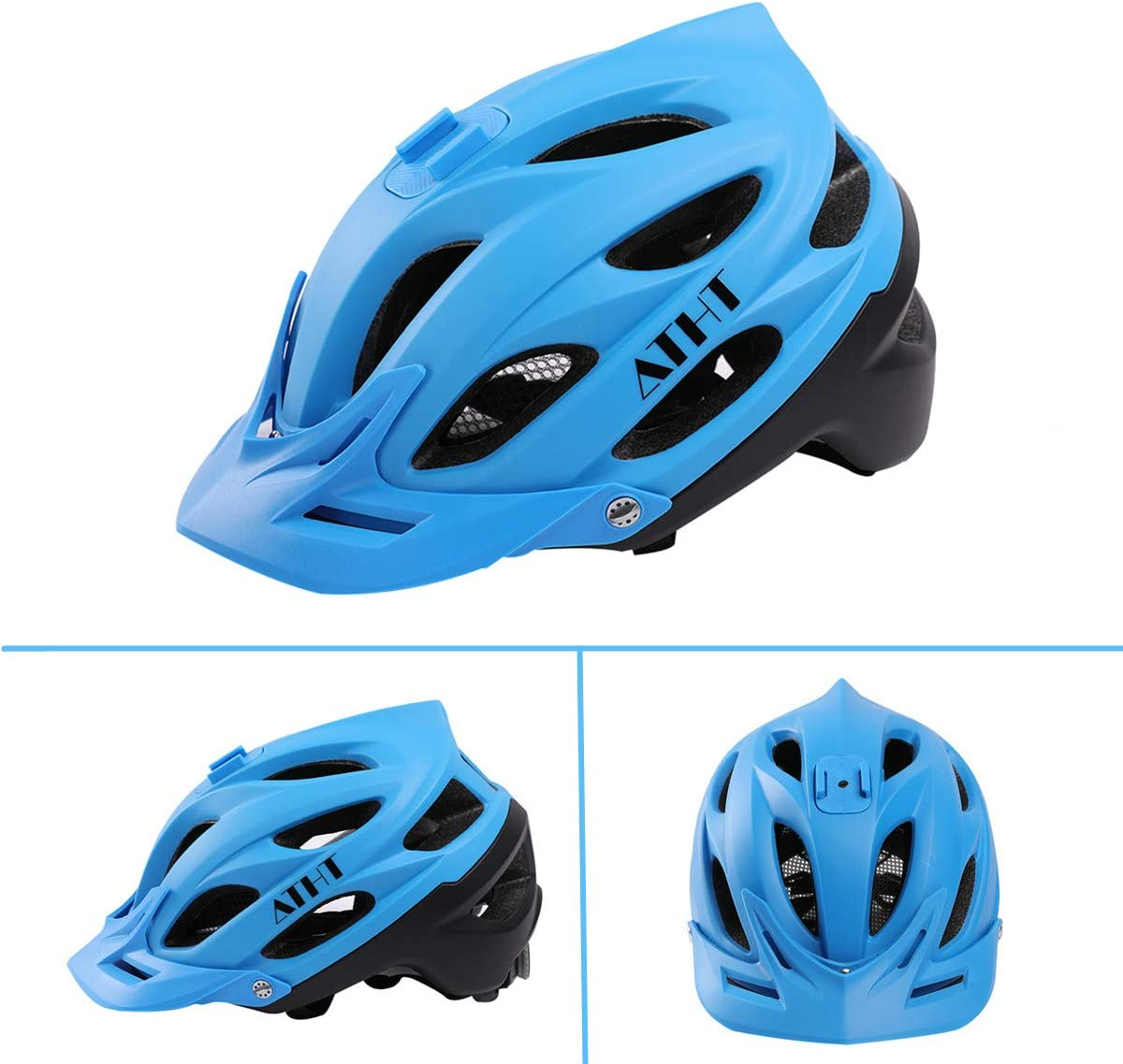 Atphfety Mountain Bike Helmet,MTB Road Bicycle Cycling Downhill Helmets with Camera Mount for Adult Men//Women