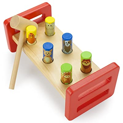 Wooden Wonders Animal Friends Pounding Bench by Imagination Generation: Toys & Games