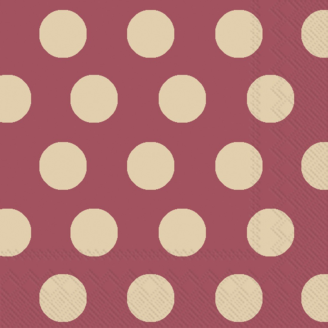 Ideal Home Range 20-Count Big Dots 3-Ply Paper Lunch Napkins, Maroon and Gold