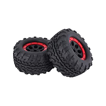 Ballylelly Ruedas de Coche RC AUSTAR 2 unids Goma 160 mm llanta llanta neumático para 1/8 RC Bigfoot Cars Modelo: Amazon.es: Juguetes y juegos