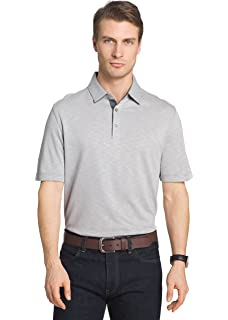 ca483772 Van Heusen Men's Classic Fit Self Collar Natural Stretch Easy Care Short  Sleeve Polo