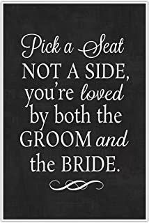 amazon com pick a seat either side you re loved by the groom