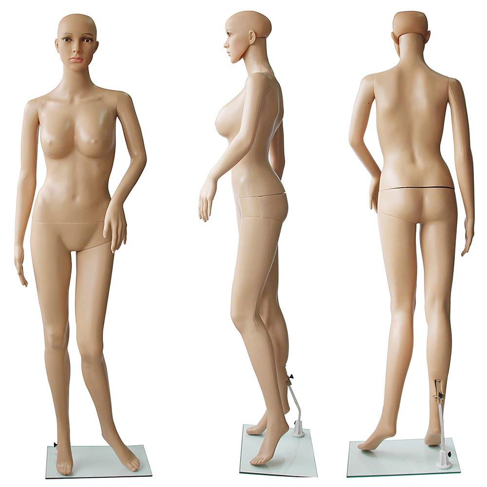 vielseitig einsetzbar f/ür Verschiedene Kleidungsarten Melko Schaufensterpuppe Schaufensterfigur aus PE-Plastik Weiblich 180 cm