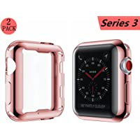 Smilelane Apple Watch 3 38mm Screen Protector & Protective Case (several colors)