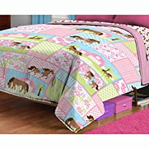 Horses Twin Bed Comforter Country Meadows Bedding