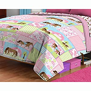 Amazon.com: Country Meadows Horses Twin Bed Comforter ...