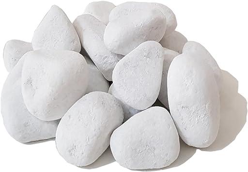 Piedras blancas decorativas para etanol y chimeneas de gel y más (20): Amazon.es: Bricolaje y herramientas
