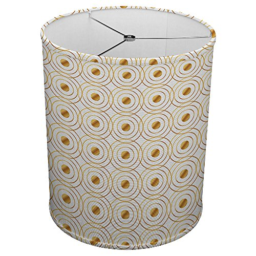 Hardback Linen Drum Cylinder Lamp Shade Spider Construction [ Atomic Gold Science ] 613g5mnSb4L