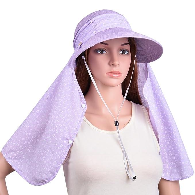 VBIGER Visor Hats Wide Brim Cap Summer Sun Hats with UPF50+ for Women  (Light Purple dcc517fd0dc9