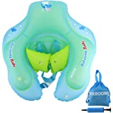WXBOOM Baby Swimming Float, Baby Inflatable Swimming Ring Baby Anti-turning Ring for Age of 6-30month with 1pc Storage Bag (Blue, L)