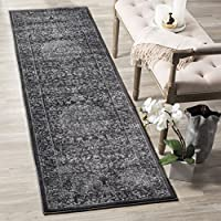 Safavieh Carnegie Collection CNG631P Vintage Dark Grey and Cream Distressed Runner (23 x 8)