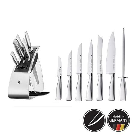 WMF 1880679992 Grand Gourmet Performance Cut-Juego de Cuchillos de Cocina con Bloque Organizador (7 Piezas), Acero Inoxidable, 7 Unidades