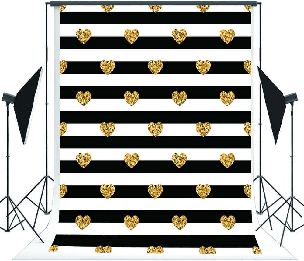 200x300cm 6.5x10ft Black White Stripe Photography Backdrop Line Baner Kids Party Photo Background Baby Shower Backdrop for Photoshoot