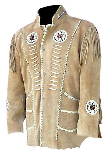 Classyak Hombres de Western Cowboy Flecos motokit Chaqueta ...