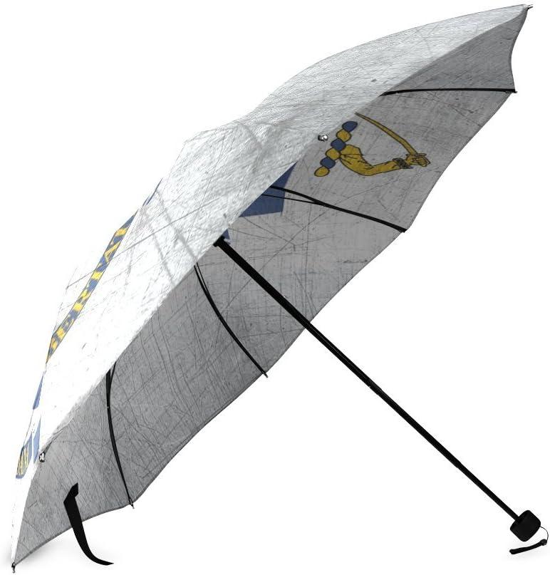 Custom Massachusetts State Flag Compact Travel Windproof Rainproof Foldable Umbrella