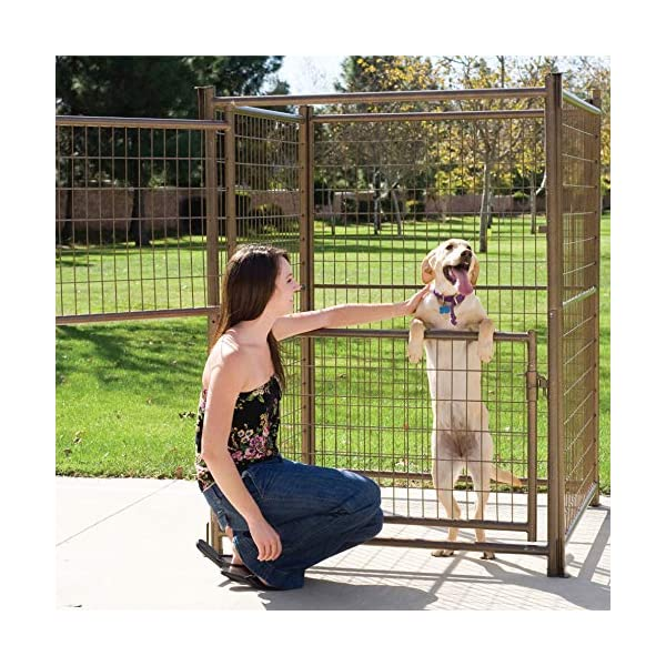 1.7m Height Aztec Gold Double Door Pet Pen Dog Enclosure Run Kennel | 4 Panels | Each Panel 1.2mx1.2mx1.7m Click on image for further info.