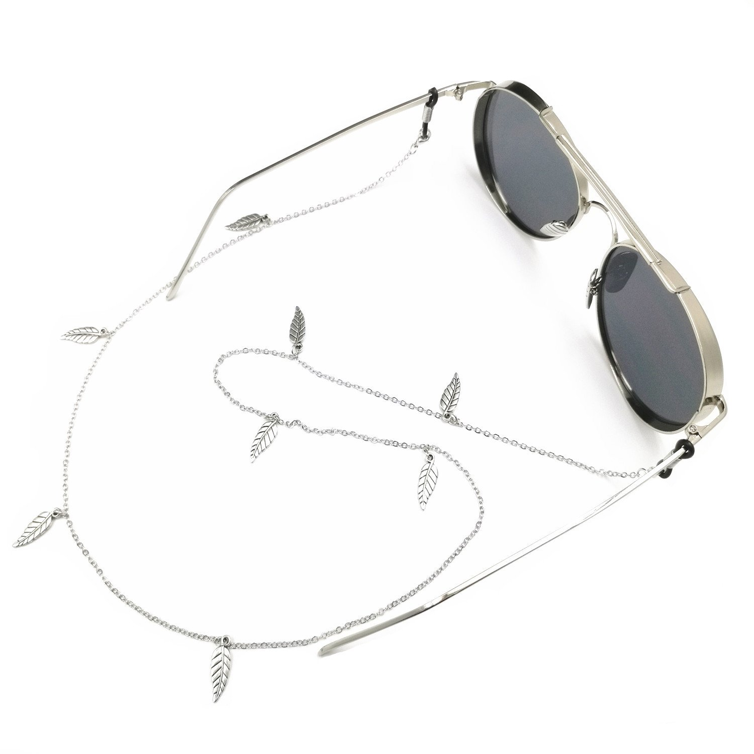 Kalevel Eyeglass Strap Holder Silver Glasses String Holders for Women Girls 4332660750