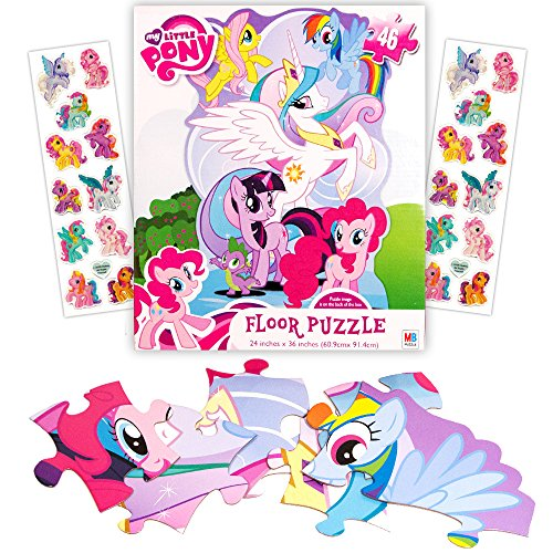My Little Pony Giant Floor Puzzle for Kids (3 Foot Puzzle, 46 Pieces-- Bonus My Little Pony Stickers)
