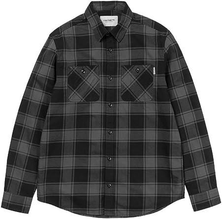 Carhartt Camisa WIP L/S Josh Camiseta hombre mujer cuadros franela gris gris oscuro S: Amazon.es: Ropa y accesorios
