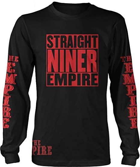 Straight Niner Empire Black   Red Long Sleeve T-Shirt (Small) San Francisco 7a2fb42fd