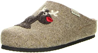 Damen Hausschuhe (Schafe Schuhe) beige, Größe:41, Farbe:Beige Tofee