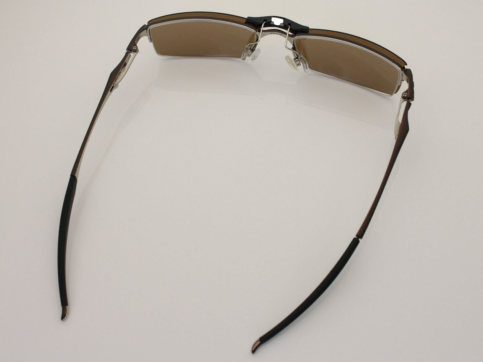Custom Fit Polarized CLIP-ON Sunglasses For Oakley Halfshock OX3119 55X19 Brown by COODY (Image #5)