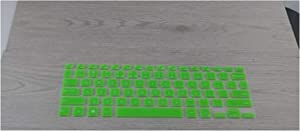 Silicone Keyboard Skin Cover Protector for DELL XPS 13-9343 9350 XPS 13R 1508 1708 3505 Only for Dell XPS 13 2015 2016 2017-Green-