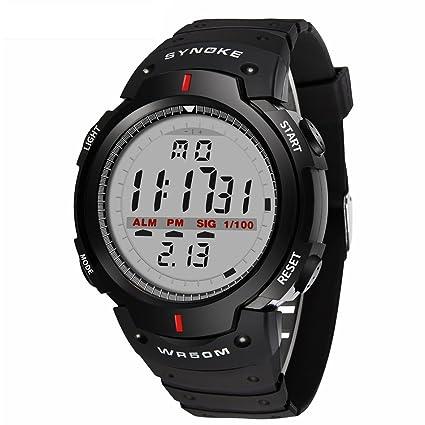 GeKLok - Reloj Deportivo para Hombre, al Aire Libre, Multifuncional, Militar, Resistente