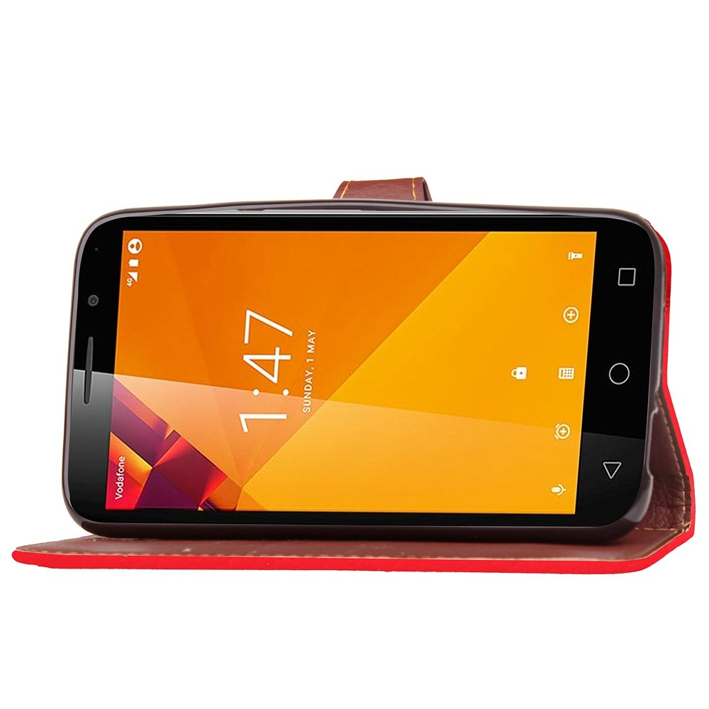 Amazon.com: AICEDA Vodafone Smart Turbo 7 Case Flip Cover Pouch Case for Vodafone Smart Turbo 7 - Red: Electronics