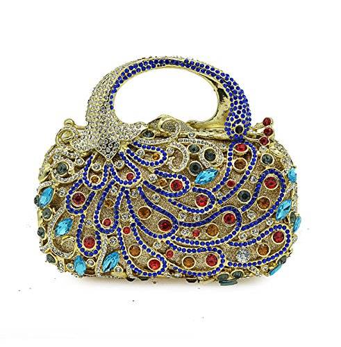 Luxe De Pour De Diamant Soirée Pleine De Dames Dîner Mode Strass Banquet De Sac Sac Chaîne BlueColor Pochette Sac En Cristal à Main à Sac qT7wEn