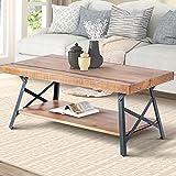 Harper&Bright Designs Wood Coffee Table Metal Legs, Living Room Set