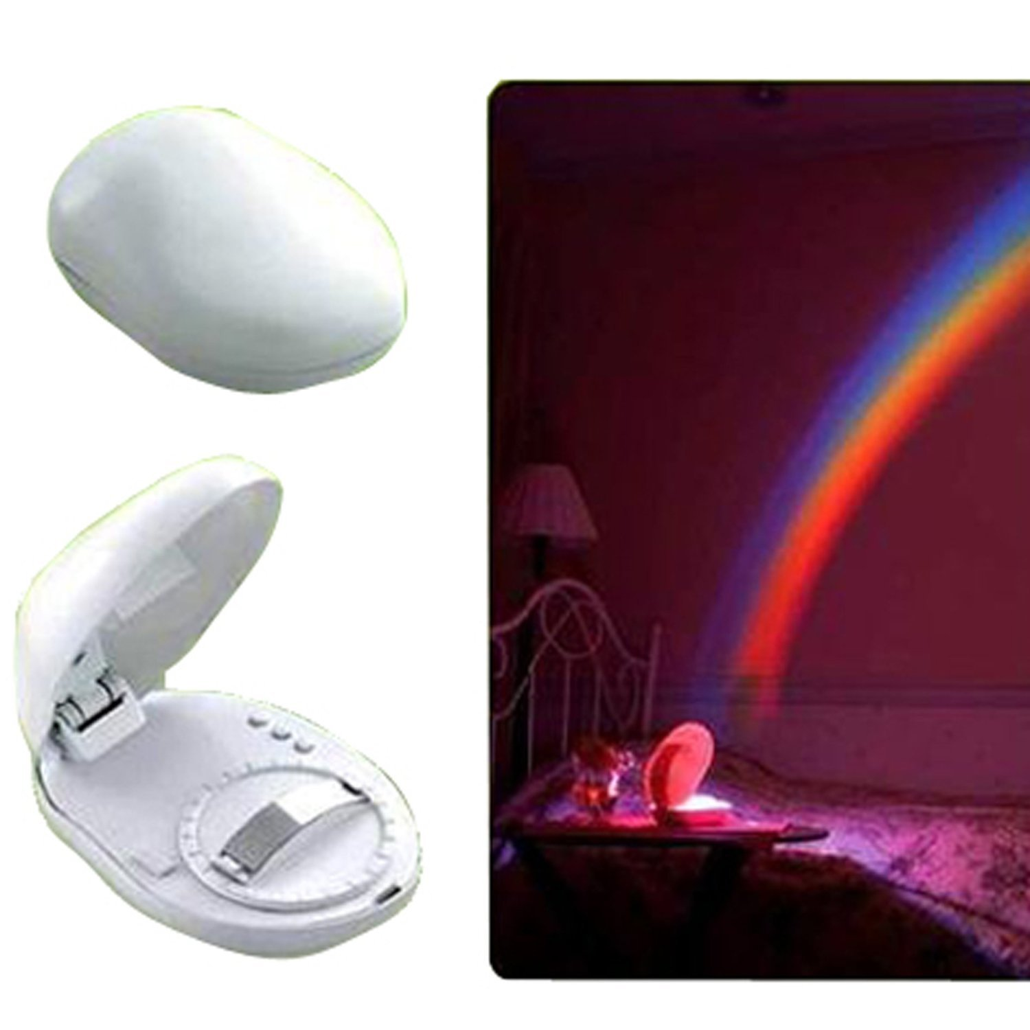 LED Rainbow Projector Room Night Light W/3 Display Mode   Rainbow Over My  Bedroom   Amazon.com