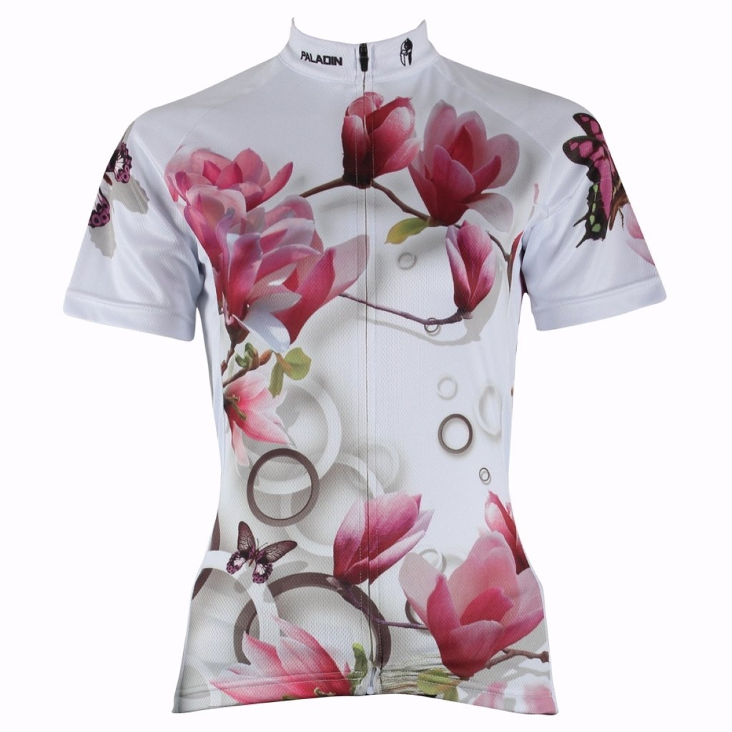 PaladinSport Lily Pattern Womens Short Sleeve Cycling Clothes