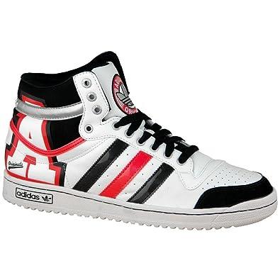 ADIDAS TOP TEN Hi Weiss Schwarz V24143 Sneaker Sportschuhe Neu