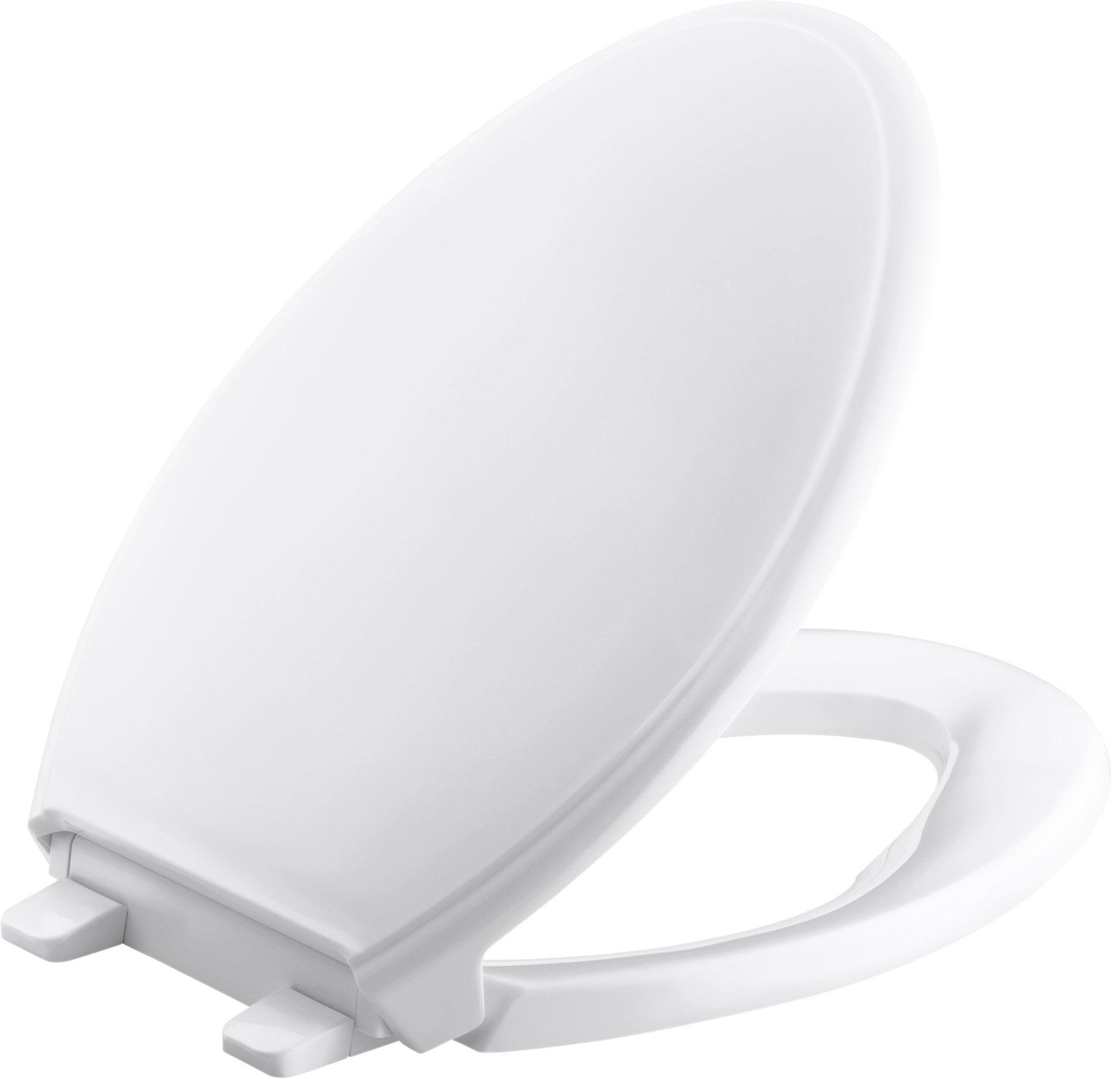 Kohler K-2598-0 Quick-Release Elongated Toilet Seat White GRIP-TIGHT GLENBURY,
