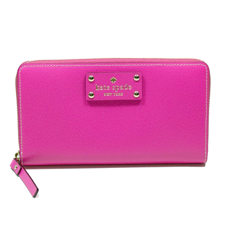 Kate Spade Neda Wellesley Leather Snap Dragon Zip Around Wallet/ Clutch (Pink) #WLRU1153